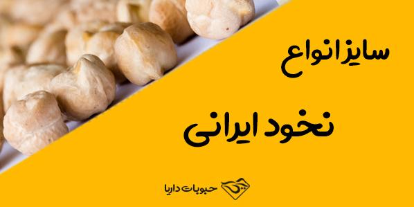 سایز انواع نخود ایرانی